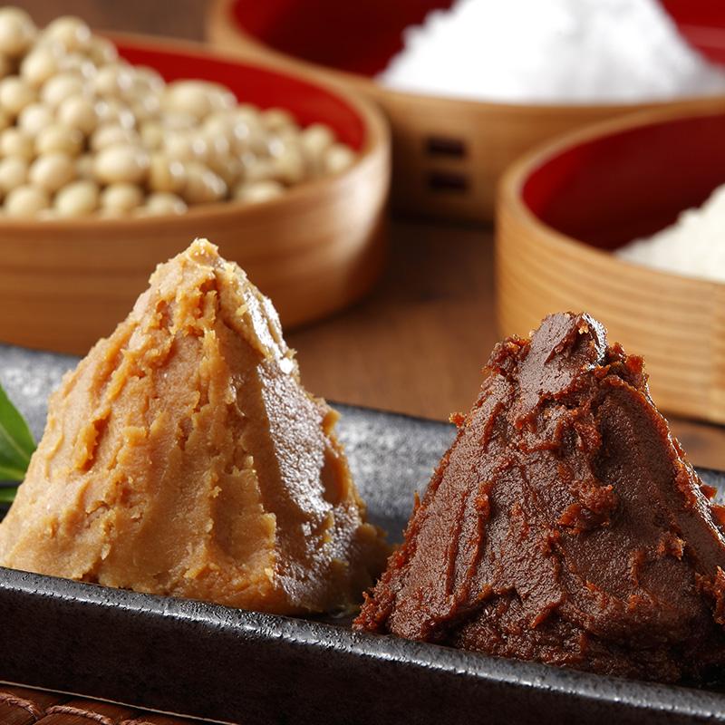 マルシチ 津軽味噌『佰』赤・白味噌セット